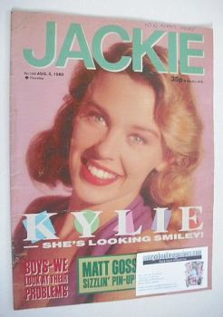Jackie magazine - 5 August 1989 (Issue 1335 - Kylie Minogue cover)