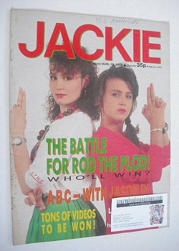 <!--1989-08-19-->Jackie magazine - 19 August 1989 (Issue 1337)