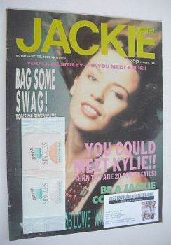 Jackie magazine - 23 September 1989 (Issue 1342 - Kylie Minogue cover)