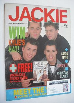 Jackie magazine - 11 November 1989 (Issue 1349 - Brother Beyond cover)