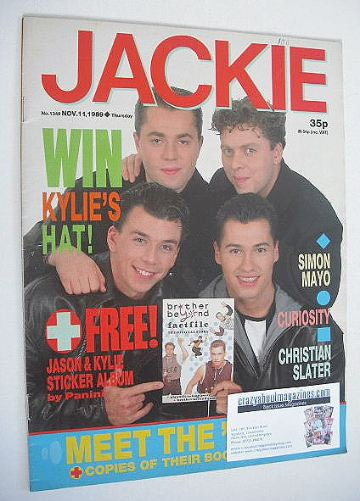 <!--1989-11-11-->Jackie magazine - 11 November 1989 (Issue 1349)