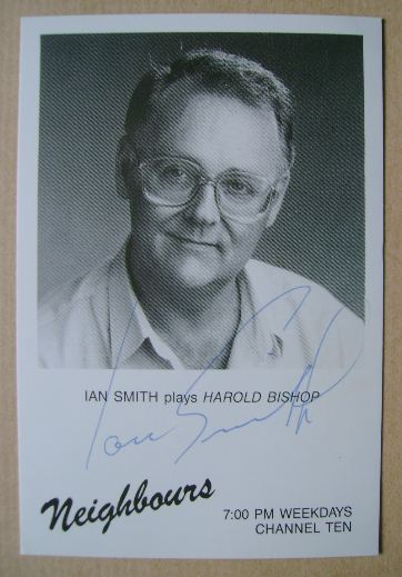 Ian Smith autograph (hand-signed Neighbours cast card)