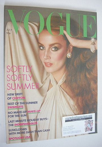 <!--1976-07-->British Vogue magazine - July 1976 - Jerry Hall cover