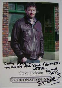 Steve Jackson autograph (Coronation Street actor)