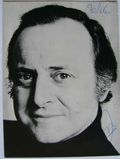 David Jacobs autograph (hand-signed photograph, dedicated)