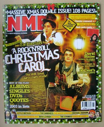 <!--2003-12-20-->NME magazine - Carl Barat and Pete Doherty cover (20/27 De