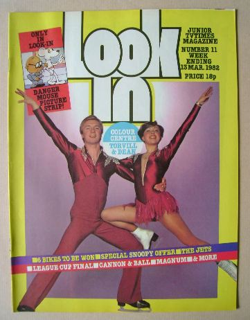<!--1982-03-13-->Look In magazine - Jayne Torvill and Christopher Dean cove
