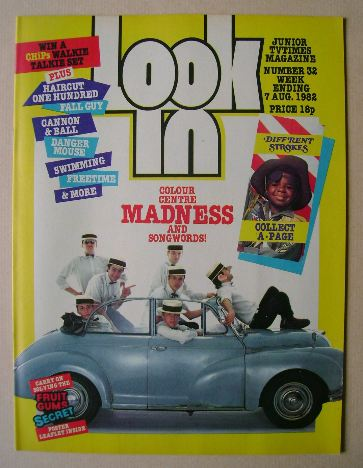 <!--1982-08-07-->Look In magazine - Madness cover (7 August 1982)