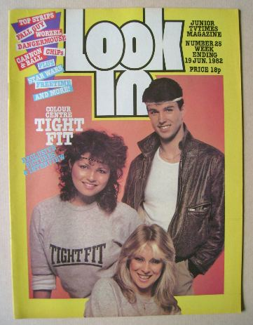 <!--1982-06-19-->Look In magazine - Tight Fit cover (19 June 1982)