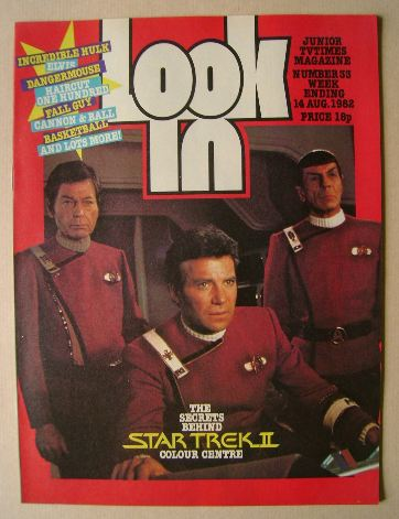 <!--1982-08-14-->Look In magazine - Star Trek cover (14 August 1982)