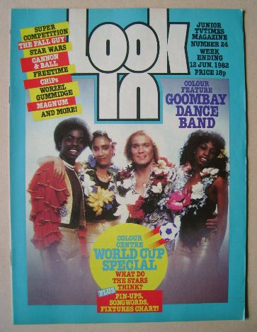 <!--1982-06-12-->Look In magazine - Goombay Dance Band cover (12 June 1982)