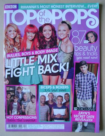<!--2011-12-30-->Top Of The Pops magazine - Little Mix cover (30 December 2