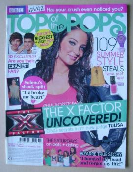 Top Of The Pops magazine - Tulisa cover (17 August - 13 September 2011)