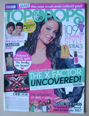<!--2011-08-17-->Top Of The Pops magazine - Tulisa cover (17 August - 13 Se