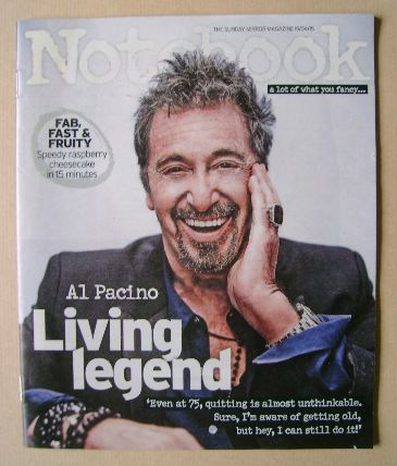 <!--2015-04-19-->Notebook magazine - Al Pacino cover (19 April 2015)