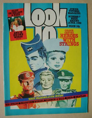 <!--1982-02-13-->Look In magazine - Heroes With Strings cover (13 February