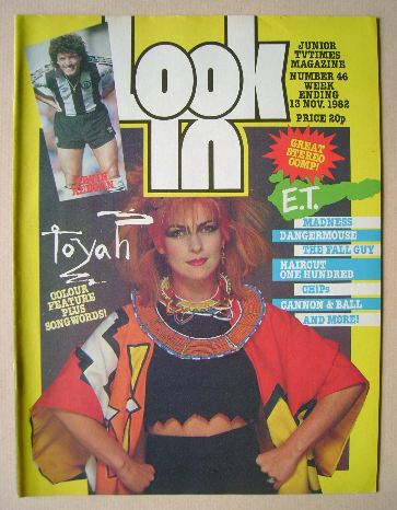 <!--1982-11-13-->Look In magazine - Toyah Willcox cover (13 November 1982)
