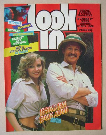 <!--1982-11-20-->Look In magazine - Bruce Boxleitner and Cindy Morgan cover