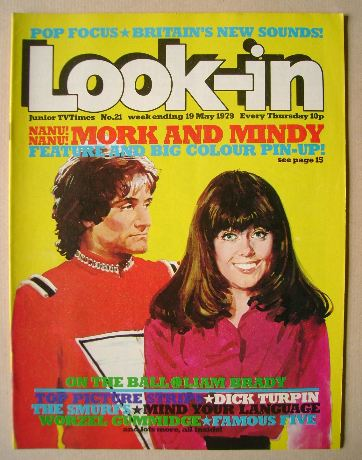 <!--1979-05-19-->Look In magazine - Mork and Mindy cover (19 May 1979)