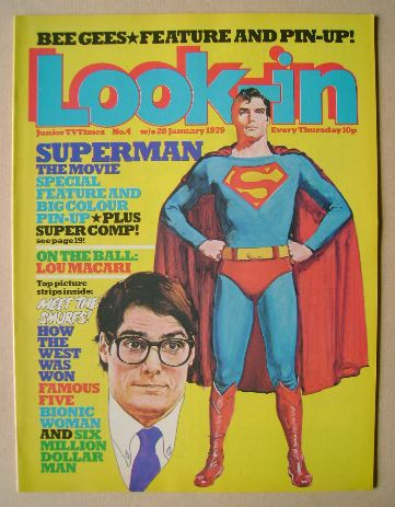 <!--1979-01-20-->Look In magazine - Superman cover (20 January 1979)