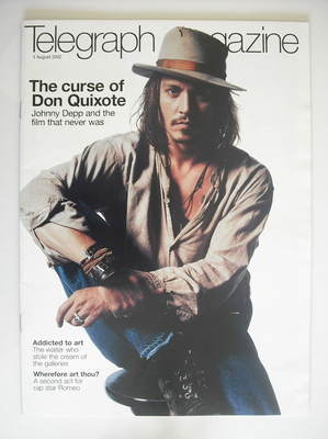 <!--2002-08-03-->Telegraph magazine - Johnny Depp cover (3 August 2002)