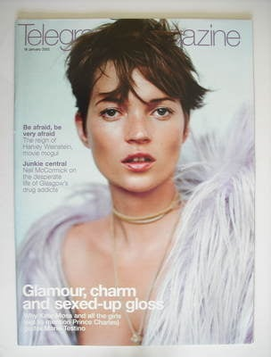 <!--2002-01-19-->Telegraph magazine - Kate Moss cover (19 January 2002)