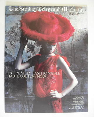 The Sunday Telegraph magazine - Haute Couture Now cover (11 August 2002)