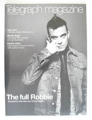 <!--2002-11-09-->Telegraph magazine - Robbie Williams cover (9 November 200