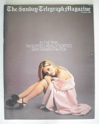 The Sunday Telegraph magazine - Samantha Fox cover (10 January 1999)