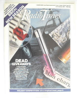 <!--1987-01-10-->Radio Times magazine - Indelible Evidence cover (10-16 Jan