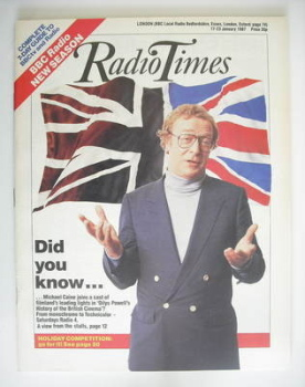 Radio Times magazine - Michael Caine cover (17-23 January 1987)