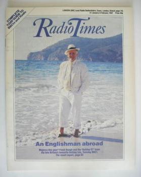 Radio Times magazine - Frank Bough cover (31 January - 6 February 1987)