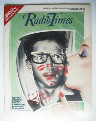 <!--1987-02-07-->Radio Times magazine - The Kiss cover (7-13 February 1987)