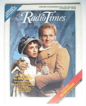 Radio Times magazine - Peter Firth and Katharine Schlesinger cover (14-20 February 1987)