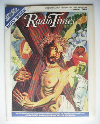<!--1987-04-11-->Radio Times magazine - Holy Week cover (11-17 April 1987)