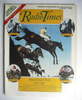 Radio Times magazine - Sixty Years of the Grand National cover (4-10 April 1987)