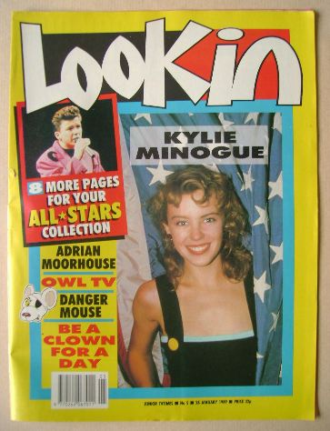 <!--1989-01-28-->Look In magazine - Kylie Minogue cover (28 January 1989)