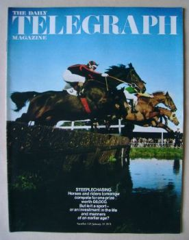 The Daily Telegraph magazine - Steeplechasing cover (15 January 1971)