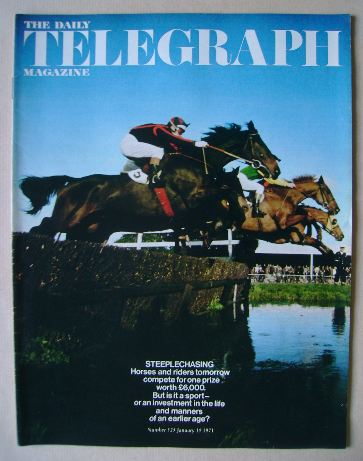 <!--1971-01-15-->The Daily Telegraph magazine - Steeplechasing cover (15 Ja