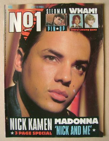 <!--1986-12-13-->No 1 Magazine - Nick Kamen cover (13 December 1986)