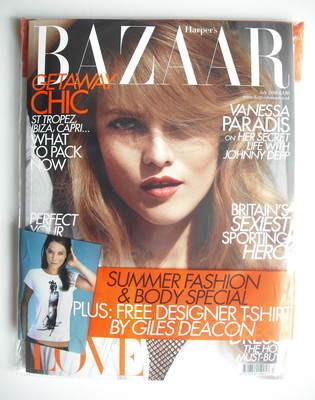 <!--2010-07-->Harper's Bazaar magazine - July 2010 - Vanessa Paradis cover