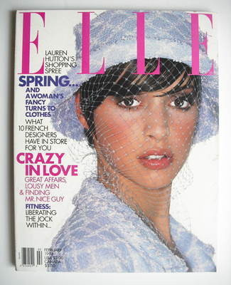 <!--1994-02-->US Elle magazine - February 1994 - Patricia Hartmann cover