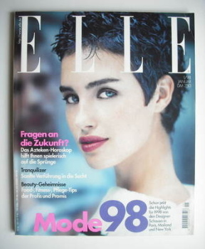 German Elle magazine - January 1998 - Caroline Eggert cover