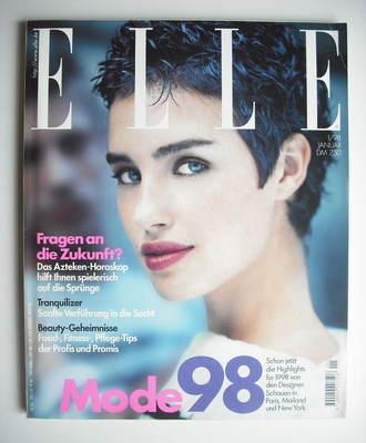 <!--1988-01-->German Elle magazine - January 1998 - Caroline Eggert cover