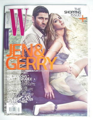 <!--2010-04-->W magazine - April 2010 - Jennifer Aniston and Gerard Butler
