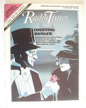 Radio Times magazine - Courting Danger cover (21-27 March 1987)