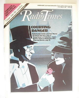 <!--1987-03-21-->Radio Times magazine - Courting Danger cover (21-27 March