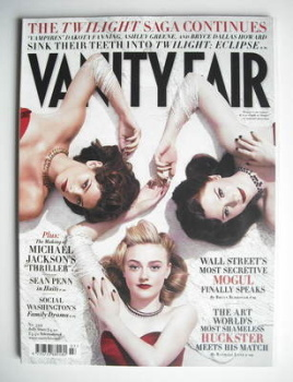Vanity Fair magazine - Dakota Fanning, Ashley Greene and Bryce Dallas Howard cover (July 2010)