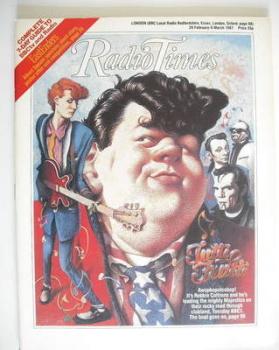 Radio Times magazine - Robbie Coltrane cover (28 February - 6 March 1987)