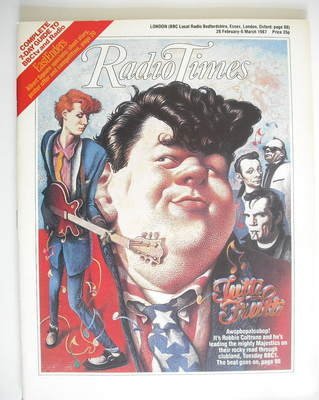 <!--1987-02-28-->Radio Times magazine - Robbie Coltrane cover (28 February